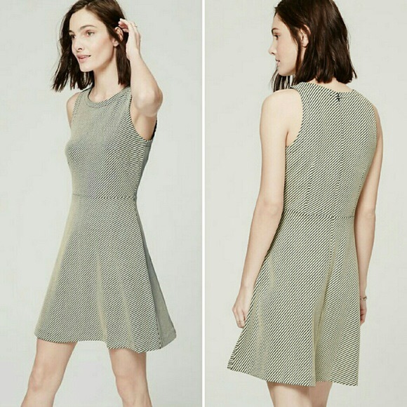 13ddccab603dd Loft Bias Jacquard Flare Dress
